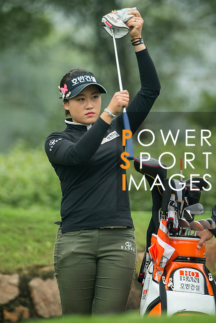 Han Sol Ji of South Korea gets ready during Round 4 of the World Ladies Championship 2016 on 13 March 2016 at Mission Hills Olazabal Golf Course in Dongguan, China. Photo by Victor Fraile / Power Sport Images