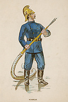 Fireman with hosepipe / details unknown / 1894
