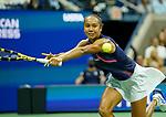 September  9, 2021:  Leylah Fernandez (CAN) defeated Aryna Sabalenka (BLR) 7-6, 4-6, 6-4, at the US Open being played at Billy Jean King National Tennis Center in Flushing, Queens, New York / USA  ©Jo Becktold/Tennisclix/CSM/CSM