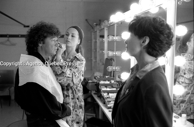 EXCLUSIVE FILE PHOTO -  Robert Charlebois backstage at Festival Juste Pour Rire, August 1992.<br /> <br /> Photo : Pierre Roussel - Agence Quebec Presse