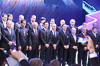 Costa do Sauípe, Bahia, Brazil - Friday, Dec 6, 2013: <br /> FIFA holds the World Cup 2014 draw in Brazil, at a coastal resort town of Costa do Sauípe in the State of Bahia. Jurgen Klinsmann and the other coaches got together in the end of the ceremony.