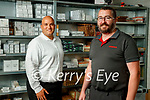 Ben Osbourne and Ray O'Callaghan in the parts department at Randles brothers, Nissan dealers in Tralee.