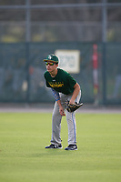 Jared Cruz (21), from Williamstown, New Jersey, while playing for the Athletics during the Baseball Factory Pirate City Christmas Camp & Tournament on December 27, 2017 at Pirate City in Bradenton, Florida.  (Mike Janes/Four Seam Images)