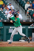 Norfolk Tides Zach Vincej (5) at bat during an International League game against the Buffalo Bisons on June 22, 2019 at Sahlen Field in Buffalo, New York.  Buffalo defeated Norfolk 3-0.  (Mike Janes/Four Seam Images)
