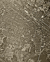 historical aerial photograph of Richmond, Virginia, 1952