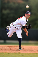 GCL Braves pitcher Rocco Cundari (58) delivers a pitch during a game against the GCL Blue Jays on June 27, 2014 at the ESPN Wide World of Sports in Orlando, Florida.  GCL Braves defeated GCL Blue Jays 10-9.  (Mike Janes/Four Seam Images)
