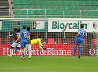 Milano  21-04-2021<br /> Stadio Giuseppe Meazza<br /> Serie A  Tim 2020/21<br /> Milan - Sassuolo<br /> Nella foto: Hakan Calhanoglu goal                                     <br /> Antonio Saia Kines Milano