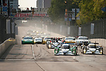 Start of the race for the inaugural American Le Mans Series race on the streets of Baltimore Grand Prix, Maryland on September 3, 2011