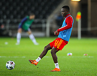 12th November 2020; Liberty Stadium, Swansea, Glamorgan, Wales; International Football Friendly; Wales versus United States of America; Rabbi Matondo of Wales during the warm up