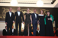 JEREMIE RENIER, MARINE VACTH, DIRECTOR FRANCOIS OZON, JACQUELINE BISSET AND MYRIAM BOYER - RED CARPET OF THE FILM 'L'AMANT DOUBLE' AT THE 70TH FESTIVAL OF CANNES 2017