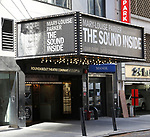 """Theatre Marquee for """"The Sound Inside"""" starring Mary Louise Parker at Studio 54 on September 20, 2019 in New York City."""