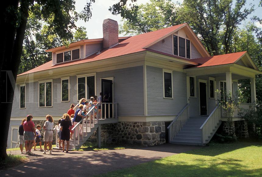 AJ2868, Charles Lindbergh, Minnesota, Charles Lindbergh boyhood home at the Charles A. Lindbergh House State Historic Site in Little Falls in the state of Minnesota.