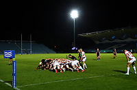 25 September 2020; A general view of a scrum during the A Interprovincial Friendly match between Leinster A and Ulster A at the RDS Arena in Dublin. Photo by Ramsey Cardy/Sportsfile/Dicksndigital