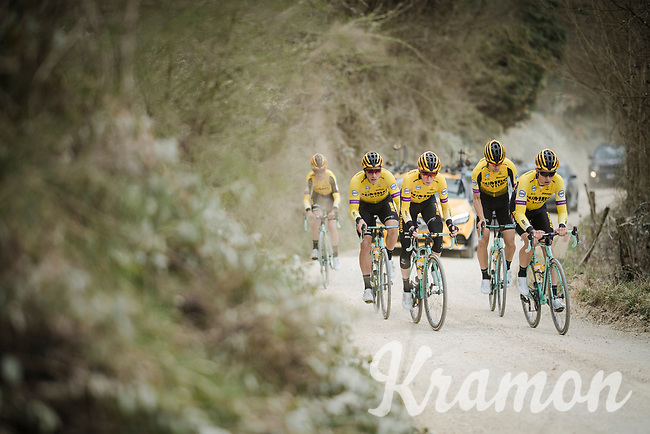 Team Jumbo-Visma (with Wout Van Aert) race reconnaissance 1 day prior to the 13th Strade Bianche 2019 (1.UWT)<br /> One day race from Siena to Siena (184km)<br /> <br /> ©kramon