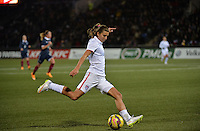 Lorient, France. - Sunday, February 8, 2015:  Tobin Heath (17) of the USWNT. France defeated the USWNT 2-0 during an international friendly at the Stade du Moustoir.