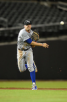 Peoria Javelinas infielder Hunter Dozier (9) during an Arizona Fall League game against the Mesa Solar Sox on October 16, 2014 at Cubs Park in Mesa, Arizona.  Mesa defeated Peoria 6-2.  (Mike Janes/Four Seam Images)