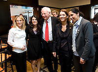 Klaus Scharioth, Mia Hamm, Kristine Lilly, Tatjana Haenni, Steffi Jones. A Welcome USA reception for the FIFA Women's World Cup 2011 was held at the German ambassador's residence in Washington, DC.