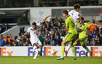 Mousa Dembele of Tottenham Hotspur scores a super strike to score his goal and make it 2-1 during the UEFA Europa League Group J match between Tottenham Hotspur and R.S.C. Anderlecht at White Hart Lane, London, England on 5 November 2015. Photo by Andy Rowland.