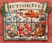 GIORDANO, CHRISTMAS SANTA, SNOWMAN, WEIHNACHTSMÄNNER, SCHNEEMÄNNER, PAPÁ NOEL, MUÑECOS DE NIEVE, paintings+++++,USGI1098,#X#