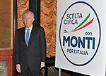 MARIO MONTI  PRESENTAZIONE LISTA SCELTA CIVICA  ROMA 2013