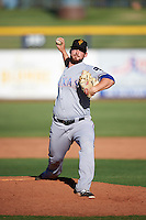 Surprise Saguaros pitcher John Fasola (31), of the Texas Rangers organization, during a game against the Peoria Javelinas on October 12, 2016 at Peoria Stadium in Peoria, Arizona.  The game ended in a 7-7 tie after eleven innings.  (Mike Janes/Four Seam Images)