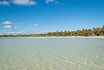 The lagoon and shoreline on Kiritimati, Kiribati.