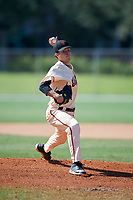 Bryce Hubbart during the WWBA World Championship at the Roger Dean Complex on October 21, 2018 in Jupiter, Florida.  Bryce Hubbart is a left handed pitcher from Windermere, Florida who attends Windermere High School and is committed to Florida State.  (Mike Janes/Four Seam Images)