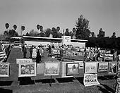 """0301-488A. """"Art Center School. Outdoor Show."""" Sign on building: """"Arizona School of Art"""" 1950s Phoenix, Arizona."""