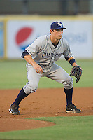 Third baseman Greg Sexton #35 of the Charlotte Stone Crabs on defense against the Jupiter Hammerheads at Roger Dean Stadium June 16, 2010, in Jupiter, Florida.  Photo by Brian Westerholt /  Seam Images