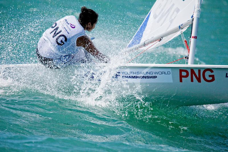 Papua New GuineaLaser RadialWomenHelmPNGRN2Rose-LeeNuma<br /> Day1, 2015 Youth Sailing World Championships,<br /> Langkawi, Malaysia