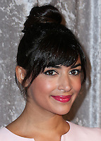 BEVERLY HILLS, CA, USA - OCTOBER 28: Hannah Simone arrives at the 25th Annual Courage in Journalism Awards held at the Beverly Hilton Hotel on October 28, 2014 in Beverly Hills, California, United States. (Photo by Xavier Collin/Celebrity Monitor)