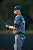 Saint Leo Lions starting pitcher Andrew Cohen (37) gets ready to deliver a pitch during a game against the Northwestern Wildcats on March 4, 2016 at North Charlotte Regional Park in Port Charlotte, Florida.  Saint Leo defeated Northwestern 5-3.  (Mike Janes/Four Seam Images)