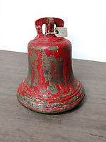 BNPS.co.uk (01202) 558833. <br /> Pic: McTears/BNPS<br /> <br /> A rare Battle of Britain scramble bell which was a call to action for The Few has sold for £1,400.<br /> <br /> The bronze bell, which has remnants of red paint on it, is dated 1940 and was issued by the Air Ministry.<br /> <br /> It rang at an unknown airbase when the dreaded Luftwaffe were incoming as the war raged in the skies.<br /> <br /> Eight decades later, the 12ins memento was sold with auctioneers McTears, of Glasgow.