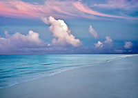 Sunrise and beach in Turks and Caicos. Providencieales