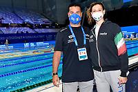 Stefano e Sara Franceschi <br /> Swimming<br /> Budapest  - Hungary  23/05/2021 Duna Arena<br /> XXXV LEN European Aquatic Championships<br /> Photo Andrea Staccioli / Deepbluemedia / Insidefoto