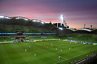 6th June 2021; AAMI Park, Melbourne, Victoria, Australia; A League Football, Melbourne Victory versus Melbourne City; A general view of play in front of no spectators as crowds were locked out due to a Melbourne lockdown