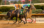 August 27, 2021: Star of Night #5 ridden by jockey Arnaldo Bocachica wins the Sadie Hawkins Stakes at Charles Town Race Course in Charles Town, West Virginia on August 27, 2021. Tim Sudduth/Eclipse Sportswire/CSM