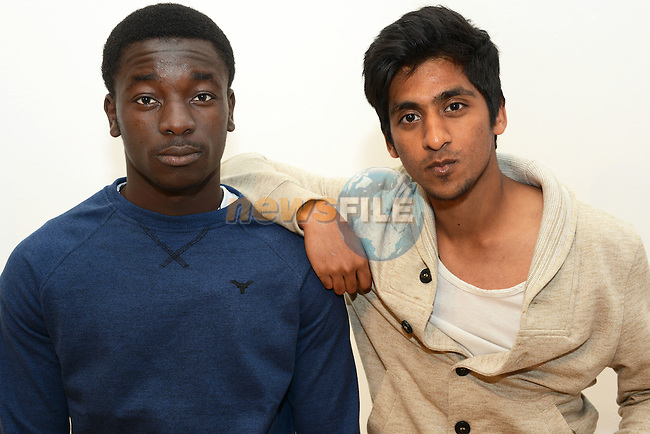 Jamiu Giwa and Tayyeb Hassan at the short film screenings in the Droichead Arts Centre.