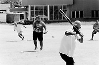 Republic of Nauru. Central Pacific. Nauru is a tiny island (21 square-km). Two teams play aagainst each other on a softball game on a sunday afternoon. © 1999 Didier Ruef