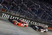 #18: Kyle Busch, Joe Gibbs Racing, Toyota Camry Skittles, #38: John H. Nemechek, Front Row Motorsports, Ford Mustang Mystik Michigan