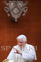 Pope Benedict XVI. gives an audience for the athletes of the FINA Swimming World Championships in Castello Gandolfo near Rome, Italy, 01 August 2009.