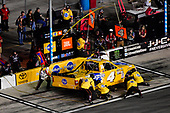 NASCAR Camping World Truck Series<br /> NextEra Energy Resources 250<br /> Daytona International Speedway, Daytona Beach, FL USA<br /> Friday 16 February 2018<br /> David Gilliland, Kyle Busch Motorsports, Pedigree Toyota Tundra makes a pit stop, Sunoco<br /> World Copyright: Logan Whitton<br /> LAT Images