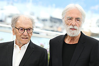 JEAN-LOUIS TRINTIGNANT AND DIRECTOR MICHAEL HANEKE - PHOTOCALL OF THE FILM 'HAPPY END' AT THE 70TH FESTIVAL OF CANNES 2017