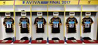 Photo: Richard Lane/Richard Lane Photography. Wasps v Exeter Chiefs. Aviva Premiership Final. 27/05/2017. Wasps prepare for the Premiership Final.