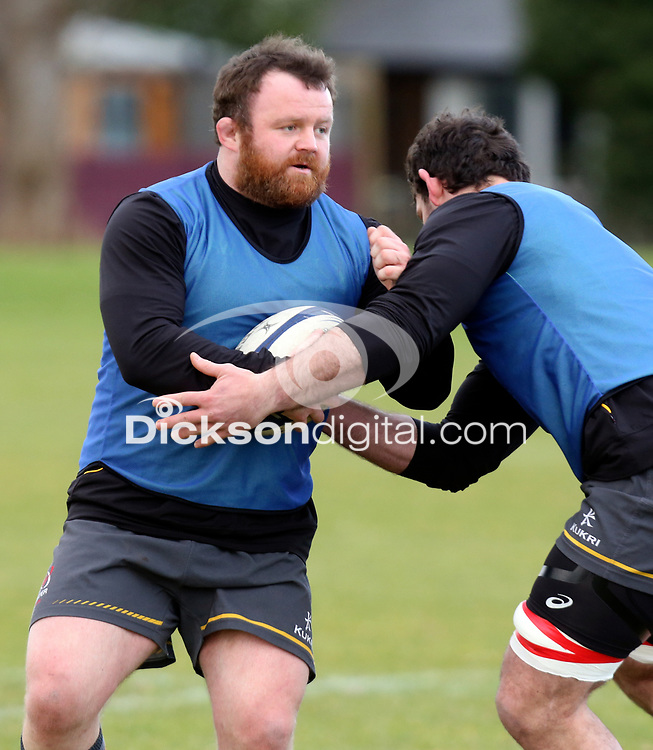 16th February 2021;  Andy Warwick during an Ulster Rugby squad pitch session held at Pirrie Park, Belfast, Northern Ireland. Photo by John Dickson/Dicksondigital
