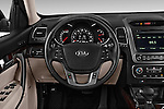 Steering wheel view of a 2014 KIA Sorento EX2014 KIA Sorento EX