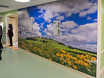 One of 7 large-scale murals by Michael Knapstein that are installed at the University of Wisconsin American Family Children's Hospital.