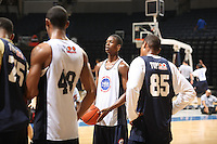 Harrison Barnes handles the ball during the 2009 NBPA Top 100 Basketball Camp held Friday June 17- 20, 2009 in Charlottesville, VA. Photo/ Andrew Shurtleff