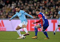 13.02.2018, Football UEFA Champions League 2017/2018, , FC Basel - Manchester City, St-Jakobs-Park stadium in Basel (Schweiz). li: Ilkay Guendogan (Manchester City)  *** Local Caption *** © pixathlon<br /> <br /> Contact: +49-40-22 63 02 60 , info@pixathlon.de