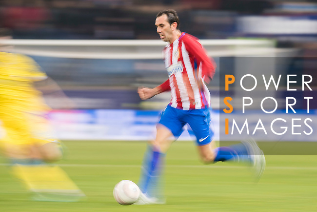 Diego Roberto Godin Leal of Atletico de Madrid in action during their Copa del Rey 2016-17 Round of 16 match between Atletico de Madrid and UD Las Palmas at the Vicente Calderón Stadium on 10 January 2017 in Madrid, Spain. Photo by Diego Gonzalez Souto / Power Sport Images